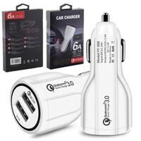ipad cars оптовых-Для iphone x samsung Автомобильное зарядное устройство Dual USB-порты 2.4A Real Led Light Автомобильные зарядные устройства Адаптер для Ipad Iphone 6 7 8 HTC Android телефон GPS MP3