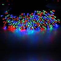 weihnachtslichtquelle großhandel-200LED Solarlampe-Reihe 200 Weihnachtslichtschnur LED Festival beleuchtet Farbe Lichter im Freien Warenquelle