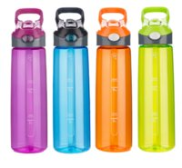 Wholesale colored plastic bottles - 700ml Eco Friendly Healthy Water Bottle High Quality Adults Sports Colored Bpa Free Plastic Straw Type Drinkware Flask With Lid