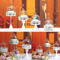 десертные насаждения оптовых-Hollow Designed Metal Steel Cupcake Dessert Iron Cake Stands Display Party