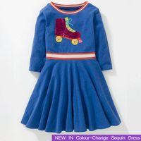 kinder kleidet farben großhandel-2018 neue Mädchen Kleid Pailletten Farbe ändern Kleider Winter Mädchen Kleidung Modemarke Kinder Kleidung Kinder Kostüm 2 4 6 8 10 Y Y1891409