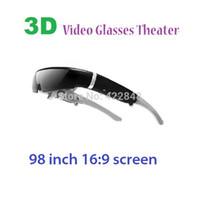 sanal tiyatro toptan satış-Sıcak satış 98 inç sanal ekran 16: 9 lcd 3d sanal video gözlük, taşınabilir özel tiyatro