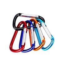 crochet de verrouillage porte-clés achat en gros de-Petit alliage mousqueton Camp Snap Clip Key Hook Lock Keychain Pour l'escalade Outodoor Livraison gratuite 500pcs