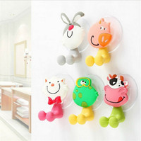 Wholesale toothbrush holder family wholesale - Wholesale Creative cute cartoon animal family high quality PVC material strong suction toothpaste toothbrush holder style optional