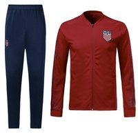 Wholesale american jackets - American Soccer JACKET SET USA World Cup 2018 19 DEMPSEY PULISIC American Football TRACKSUIT
