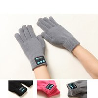 Wholesale made gloves - 2018 new Bluetooth gloves knitting warm gloves children adult Make phone call Bluetooth Mittens Touch screen Gloves C3381