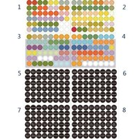 Wholesale specialty papers - 2 Sets TOTAL 768pcs Multi-Colored Labels Stickers Essential Oil Bottle Cap Sticker Labels Sheet 8 Sheet Set