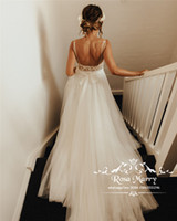 Wholesale simple greek style wedding dress resale online - Sexy Plus Size Backless Boho Wedding Dresses A Line Illusion Vintage Lace Cheap Beach Country Greek Italy Style Wedding Bridal Gowns