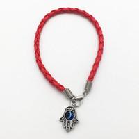 "Wholesale red string hamsa - Wholesale Kabbalah Lucky Charm HAMSA Hand Of Fatima Red String ""Evil Eye"" Bracelets 10pcs Lot Free shipping"