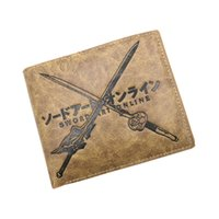 Wholesale yuuki asuna cosplay - Anime Sword Art Online Kirigaya Kazuto SAO Leather Wallet Purse Yuuki Asuna Card Holder Purse for Cosplay Collection (Khaki Color )