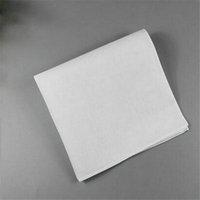trajes de satén blanco al por mayor-100% Algodón Hombre Tabla Pañuelo de Satén Pañuelo Blanco Puro Algodón Toalla Para Hombre Traje de Bolsillo Cuadrado Pañuelo más blanco
