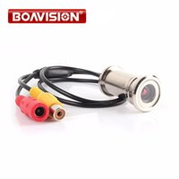 "Wholesale Cctv Eye - BOAVISION New Upgrade 1 4"" 550TVL CMOS 3.6mm Lens Door Eye Hole Install Color Mini Security Camera Doorview CCTV Camera"