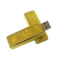 mémoire flash stylet achat en gros de-NOUVELLE barre d'or forme de 32 Go USB 2.0 Flash Drives Assez de bâtons de mémoire lecteur de stylo à pouce en métal pour ordinateur portable Macbook Tablet