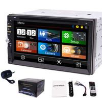 micro dvd player großhandel-EinCar 7 Zoll LCD Multimedia kapazitiver Touchscreen Doppel-Din-Auto-DVD-Stereo-Receiver mit Autoradio Bluetooth CD / DVD-Player USB / Micro SD