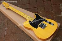 guitare anniversaire achat en gros de-Custom shop guitare électrique 20e anniversaire, guitare jaune trans jaune, livraison gratuite