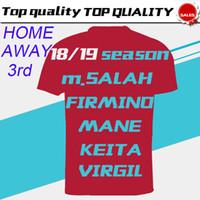 Wholesale 11 s white gold online - M SALAH Home Red Soccer Jersey KEITA Away Purple Soccer Shirt MANE VIRGIL Football Uniform Sales Size S XL