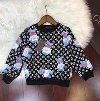 ayı hoodie çocuğu toptan satış-2018 Sonbahar Tasarımcı Marka Yeni Desen Gelgit Çocuklar Hoodies Cuddly Bear Günlük Rahat Rüzgar Joker Çocuk Elbise tasarımcısı marka