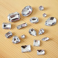 Wholesale diy phone jewelry accessories - DIY jewelry accessories handmade material shaped diamond heart acrylic drill oval drill phone shell beauty stickers drill