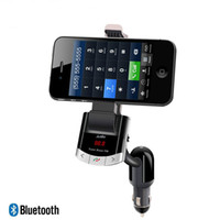 Wholesale universal radio mount for sale - Group buy Wireless Bluetooth FM Transmitter Radio Adapter MP3 Music Player Car Kit with Phone Mount Holder Bracket Handsfree