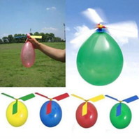 Wholesale toy airplanes helicopters for sale - Flying Balloon Helicopter DIY Balloon Airplane Toy Children Toy Self combined Balloon Helicopter Scenic Spot Flying Balloons CCA9922