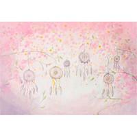 malen foto kulisse großhandel-Baby gemalt Fotografie Hintergrund Vinyl rosa Blütenblätter Kinder Geburtstagsfeier Dekoration Kinder Cartoon Photo Booth Hintergrund