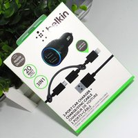 Wholesale car charger connector resale online - BK in Car Charger Port Car Charger Charge SYNC Cable USB to Lightning Connector W With Retail Box