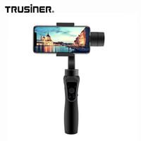 bluetooth hand freies bewegliches großhandel-Dhl-freies Verschiffen 3-Achsen-Hand-Bluetooth-Kamera Steadicam Gimbal Stabilizer für iPhone Handy Handy Smartphone Selfie