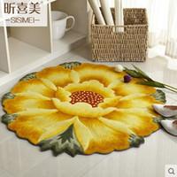 wassermelone teppich groihandel-90CM Durchmesser 3D Sunflower Teppiche für Wohnzimmer weiche Kinderspielmatte Teppiche Bodenmatte / Fußmatte Schlafzimmer Bereich Teppich