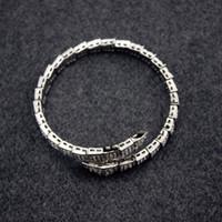 ingrosso braccialetto di diamanti del serpente-Diamond Viper snake Bangle braccialetto animale Preziosa versione alta Donna regalo gioielli da sposa