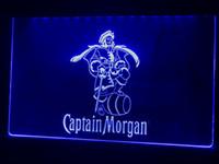 kapitän morgan neon bar licht großhandel-A138b - Captain Morgan Spiced Rum Bar LED Neonlicht-Leuchtreklame