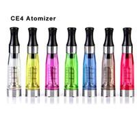 ce4 dhl versand großhandel-CE4 Zerstäuber eGo Clearomizer 1.6ml 2.4ohm Dampfbehälter elektronische Zigarette für E-Cig Batterie 8 Farben 4 Docht CE4 + CE5 DHL Versand