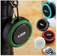 Wholesale dustproof phones - Comiso C6 Bluetooth Speaker IP65 Waterproof Level Portable Speaker Shockproof Dustproof Mini Speaker Bluetooth 3.0 Receiver