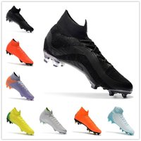 Wholesale boys high tops shoes - 2018 High Top Mercurial Superfly SuperflyX 6 VI Elite TF IC Mens Boys Soccer Shoes CR7 Cristiano Ronaldo 360 Football Boots Cleats 40-46