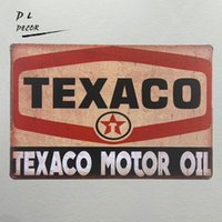 Wholesale Metal Sign Printing - TEXACO motor oil station Sevice vintage metal Sign posters and prints home decoration accessories