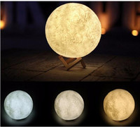 Wholesale Moonlight Weddings - 3D Magical Moon LED Night Light Dimmable 8cm 10cm 12cm 15cm Magical Moon LED Light Moonlight Desk Lamp USB Rechargeable 3D MoonLight Colors