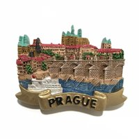 Wholesale Handmade 3d Stickers - New Arrival Prague, Czech Fridge Magnet 3D Handmade Resin Tourist Souvenirs Refrigerator Magnetic Sticker Gift Home Decor