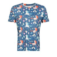 Wholesale Hip Hop Tassels T Shirt - 2018 Unicorn T-shirt For Women short sleeve cute Unicorn Dab Dance T Shirt Dabbing Hip-Hop Pose T-Shirt harakuju design Tops Tees