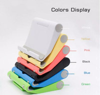 Wholesale foldable readers resale online - Universal Adjustable Cell Phone Stand Foldable Phone Stand Holder Cradle for iPhone X PLUS Samsung LG Smartphone Tablet E Reader