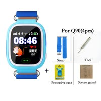 Wholesale Sleep Wear For Kids - Q90 Bluetooth Smartwatch with GPS WiFi LBS for iPhone IOS Android Smart Phone Wear Clock Wearable Device Smart Watch 3 Colors