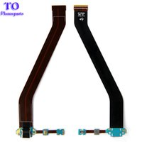 Wholesale Tab Usb Port - For Samsung Galaxy Tab 3 10.1 P5200 P5210 Charger Charging Flex Cable USB Dock Connector Port + Microphone Cables