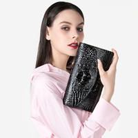 sexy kettenhandtaschen großhandel-2018 Hot Luxury Klassische Schwarze Ketten Frauen Tasche Marke Mode Pu-leder Handtasche Alligator Sexy Lady Schulter Umhängetasche