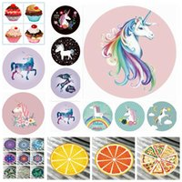 Wholesale child cream summer for sale - Group buy Unicorn Mandala Beach Towel Chiffon Ice Cream Fruit Pizza Printed Thin Round Picnic Summer Swimming Bath Towels Styles OOA5127