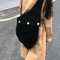 sacos de lona para homens venda por atacado-Sacos De Raf Simons RS Eastpak Edição Organizado Ombro Sacos Do Mensageiro Das Mulheres Dos Homens de Compras de Compras Mochila de Viagem Pacote Prático HFYMBB055