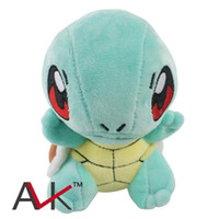 Wholesale 6 quot CM Squirtle Peluche Toys Kawaii Standing Squirtle Plush Toys Cartoon Anime Dolls Baby Toy Gift For Kids Christmas