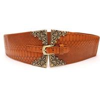 ceintures élastiques à taille large femme achat en gros de-Rétro ceinture élastique large ceinture pour les femmes ceinture large ceinture mode féminine féminine Cummerbunds décoration de la femme