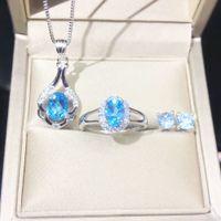 CS-DB Pendants 1.2ct Oval Natural Garnet Gemstone Silver Necklaces