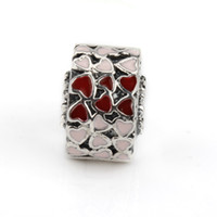 Wholesale High Quality Sterling Silver Burst Of Love Clip Mixed Enamel Bead Charm Fit Bracelet Bangle DIY Jewelry