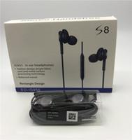 auriculares negros de manzana al por mayor-S8 Auriculares Auriculares Negros Auriculares Estéreo de 3.5mm Auriculares Estéreo en la Oreja con Micrófono Con Paquete de Venta al por menor Para Samsung S8 S8 más