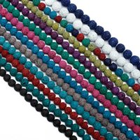 Wholesale 14mm white stone beads - 8mm 1strip 4 6 8 10 12 14mm Natural colorful Volcanic Lava Stone Round Bead Round Loose Beads DIY Bracelet Bead Wholesale