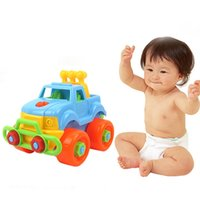Wholesale toy cars brands - Baby Plastic Car Toy Disassembly Assembly Classic Cars Truck Toys Brand Children Gifts Hot miniatura de carro